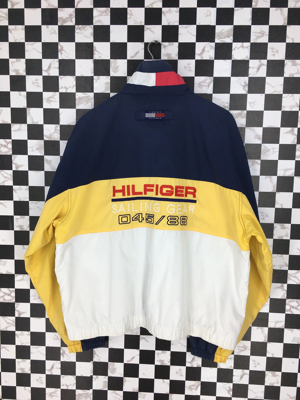 TOMMY Hilfiger Jacket Windbreaker Men Large Vintage 90's