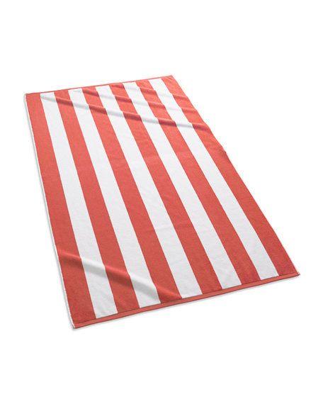 KASSATEX Cabana Stripe Beach Towel Coral & White $39 Pick Up or Ships Free BUY HERE http://rain-rossi.mybigcommerce.com/kassatex-cabana-stripe-beach-towel-coral-white-39-pick-up-or-ships-free/