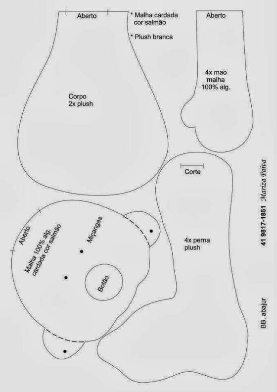 Molde de Muñeca bebé con chupete en fieltro | Куклы | Pinterest