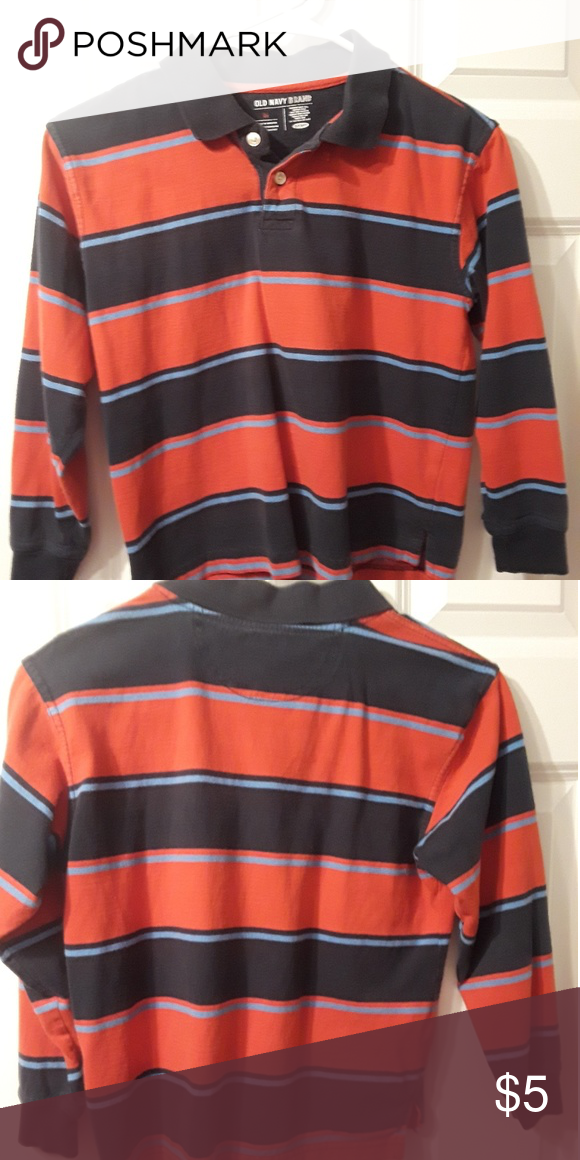 b01849d66 Old Navy boys long sleeve Polo shirt size medium Old Navy brand in good  condition
