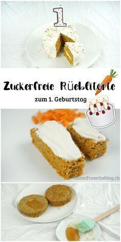 Eine Zuckerfreie Rueblitorte Zum 1 Geburtstag Karottenkuchen Zuckerfrei Karotten Kuchen