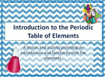 Introduction to the periodic table of elements periodic table the elementary professor this is an active lesson and activity that introduces the periodic table of elements and its structure urtaz Gallery