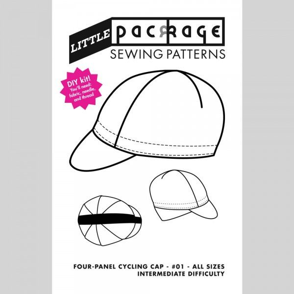 Little Package 4-panel Cycling Cap Pattern | So Sew | Pinterest