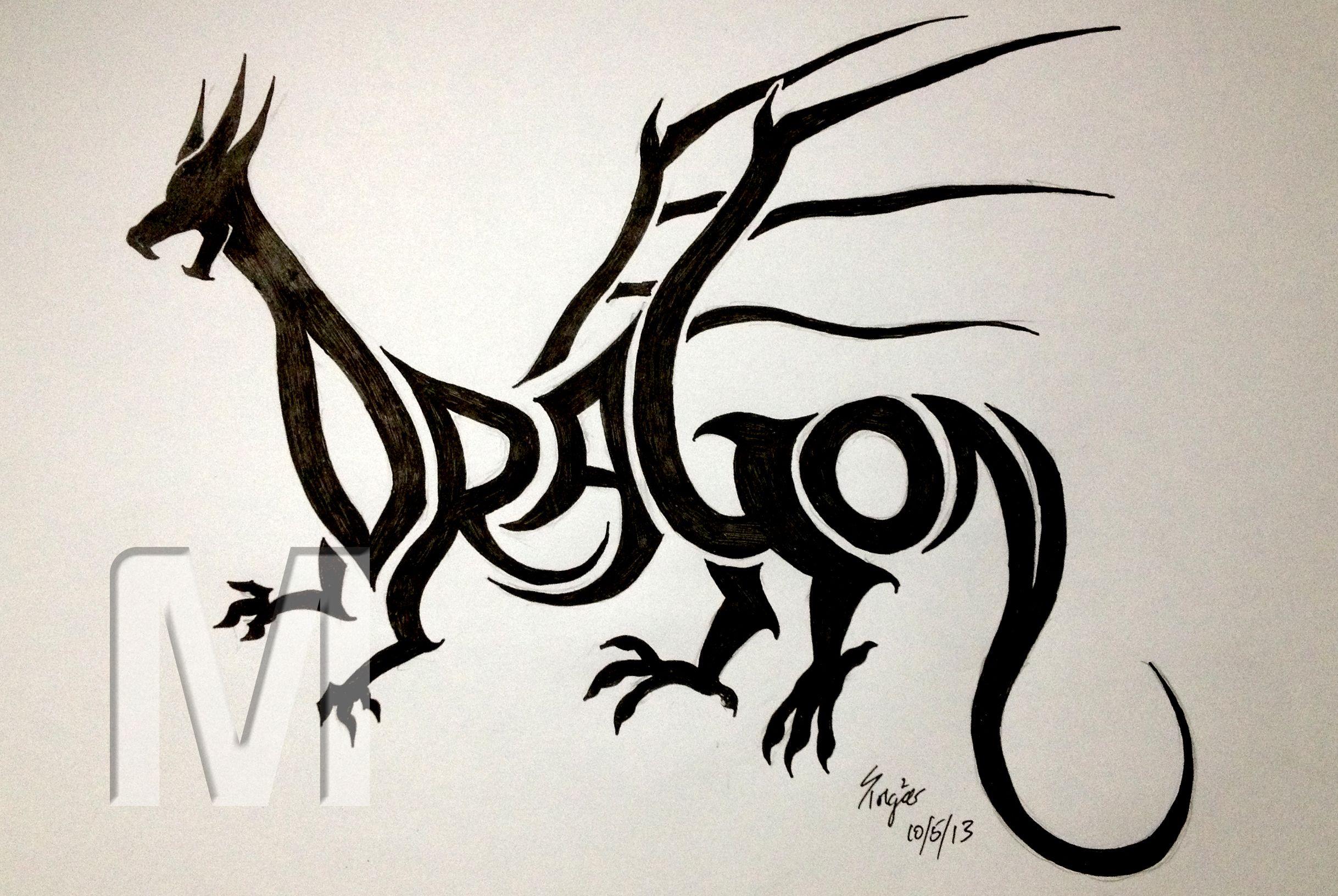 Word Art Of The Week Dragon Word Drawings Word Art Word