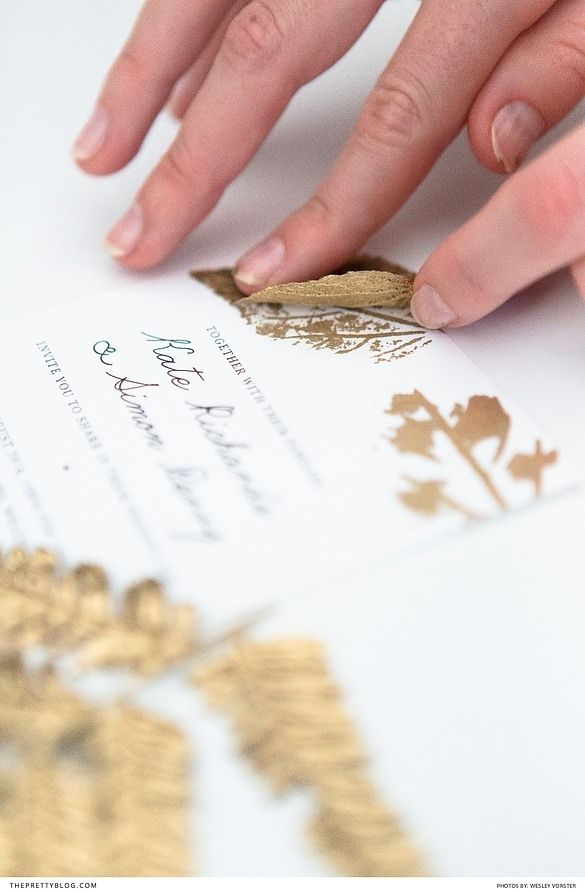 Make Your Own Stunning Wedding Invites | Leaf prints, Kites and Leaves