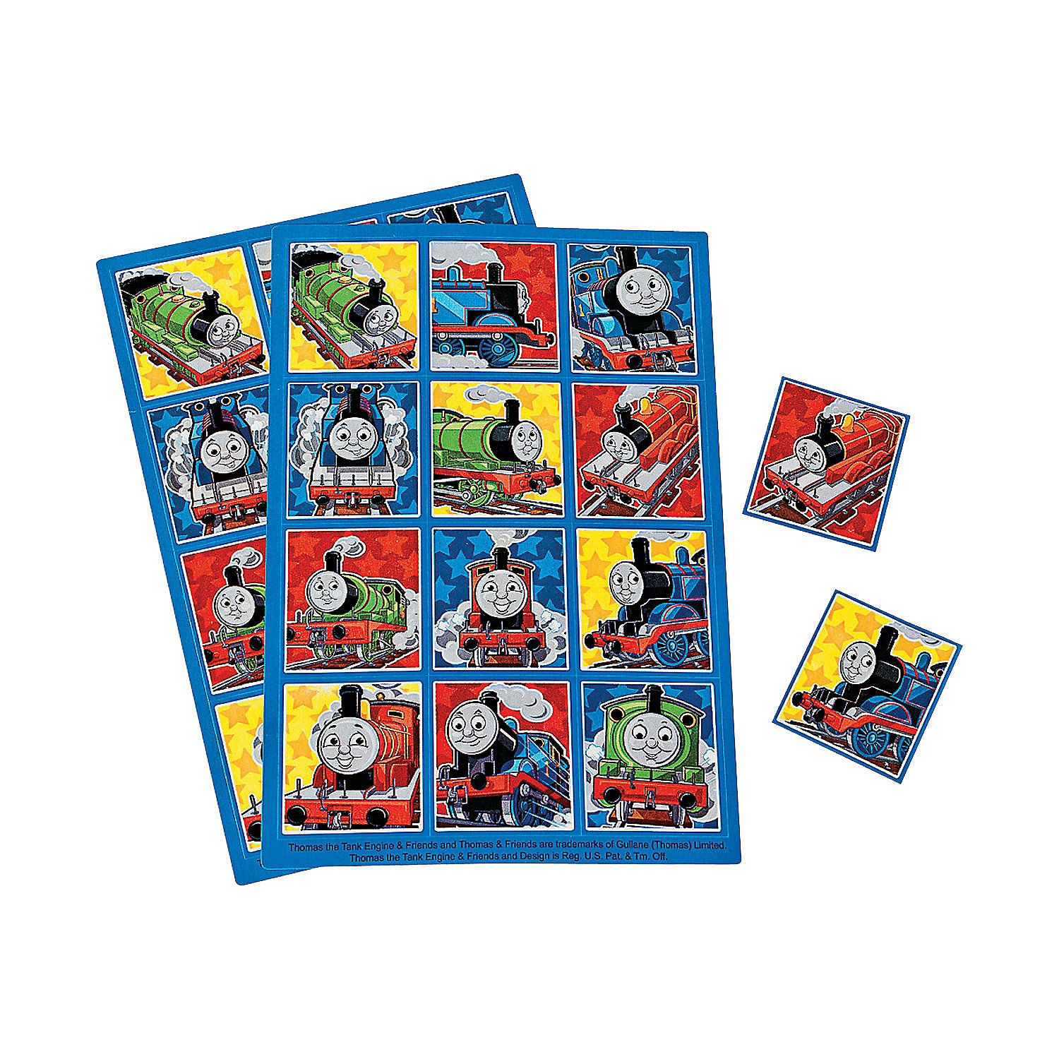 Thomas & Team Steam Sticker Sheets - OrientalTrading.com