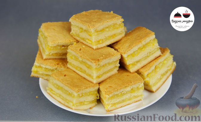Рецепт: Пирожные с лимонно-апельсиновой начинкой на RussianFood.com