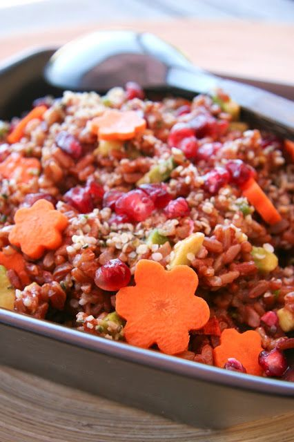 Salade de riz rouge à la grenade
