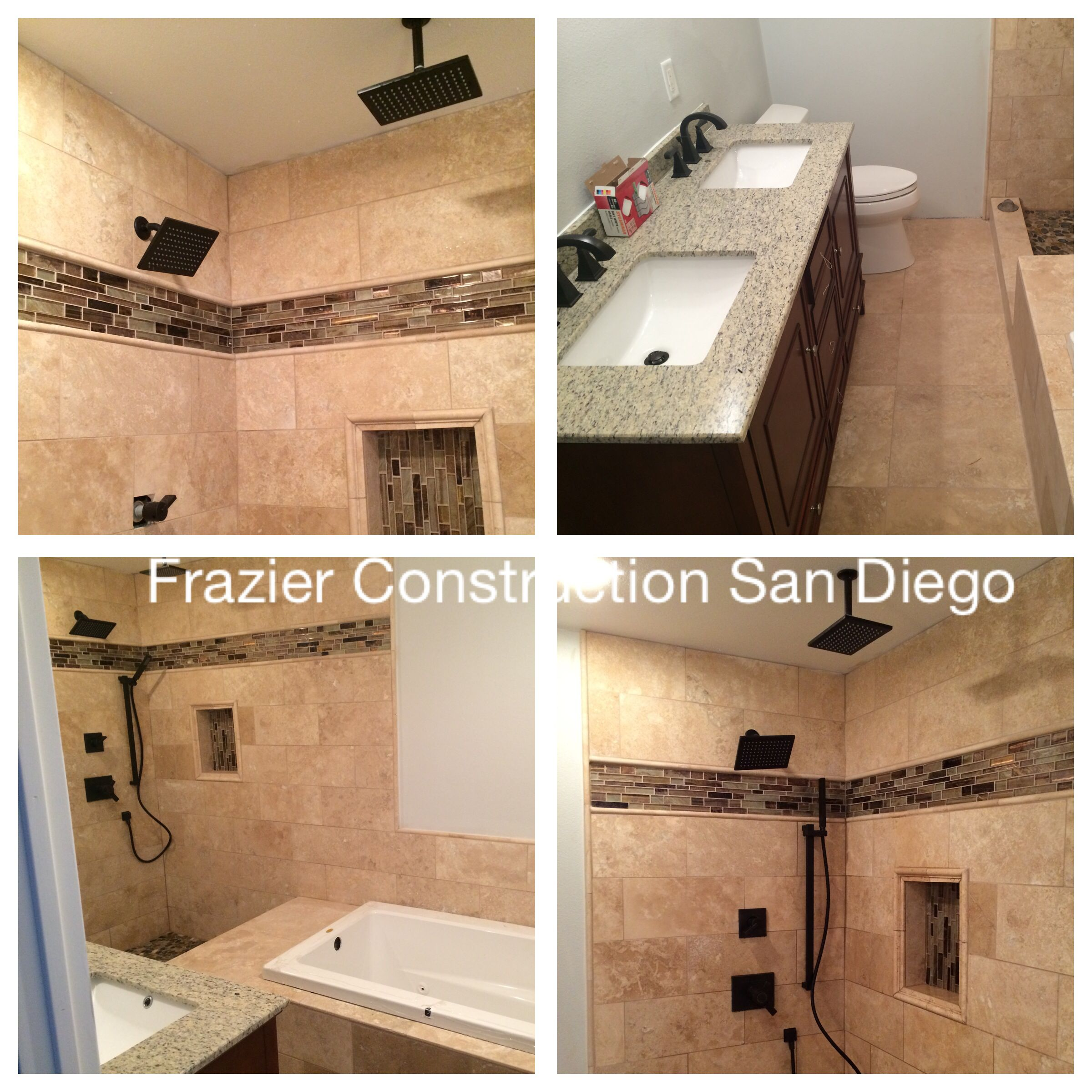 Latest bathroom expansion and remodel complete with new custom