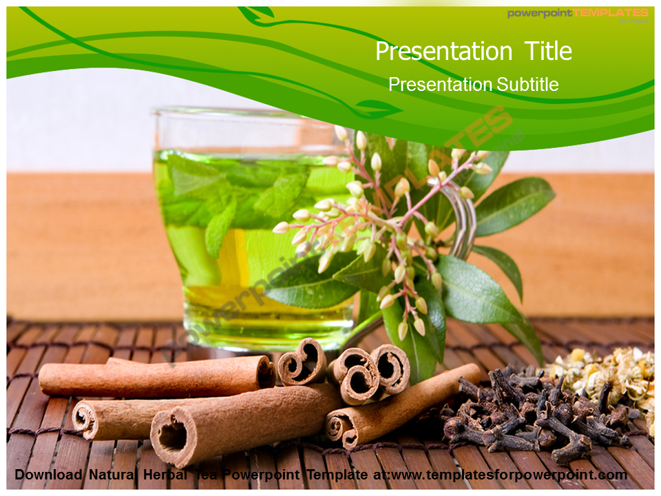 download natural herbal tea powerpoint template at: www, Presentation templates