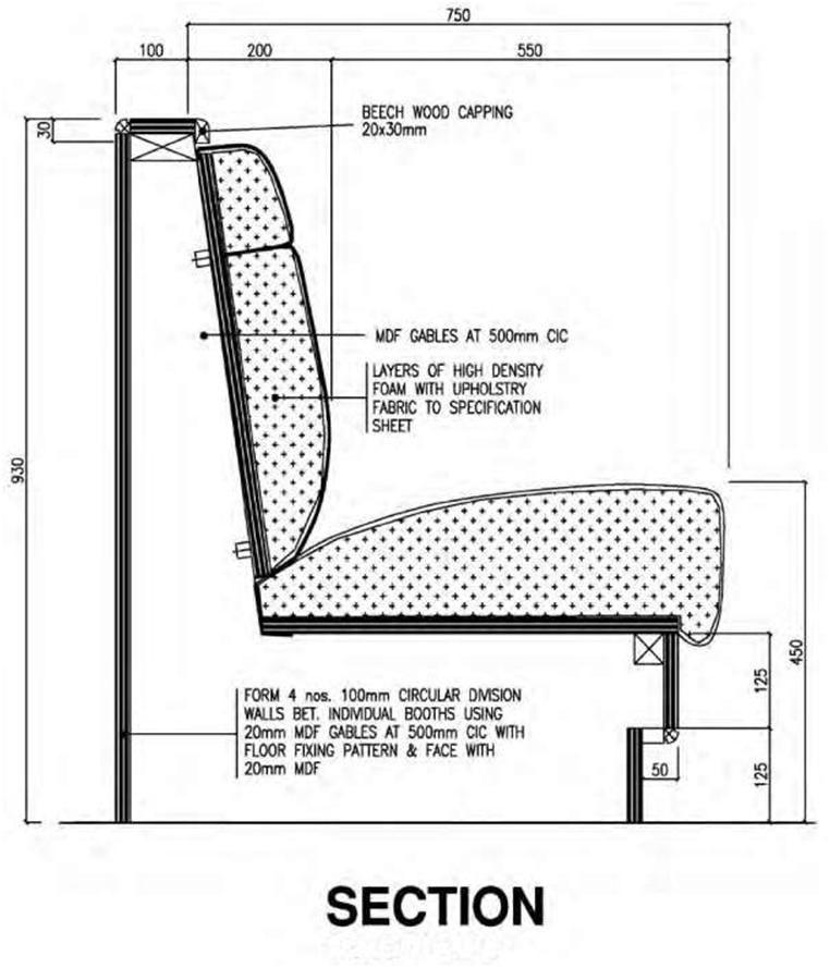 Restaurant Banquette Seating Detail Source Kubba Design