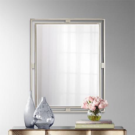 Kichler Hendrik Brushed Nickel X Wall Mirror High Walls - Kichler bathroom mirrors
