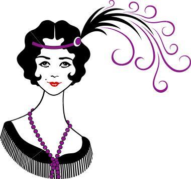 istockphoto 4524069 roaring 1920 s flapper girl jpg 1920 s the rh pinterest com 1920s clipart borders 1940s clip art free