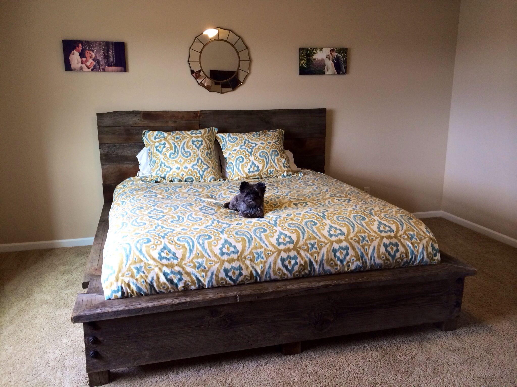 year old barn wood king bed dream home pinterest barn wood
