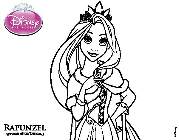 Princesas Disney Dibujos Para Colorear De Jasmín: Princesa Rapunzel Para Colorear