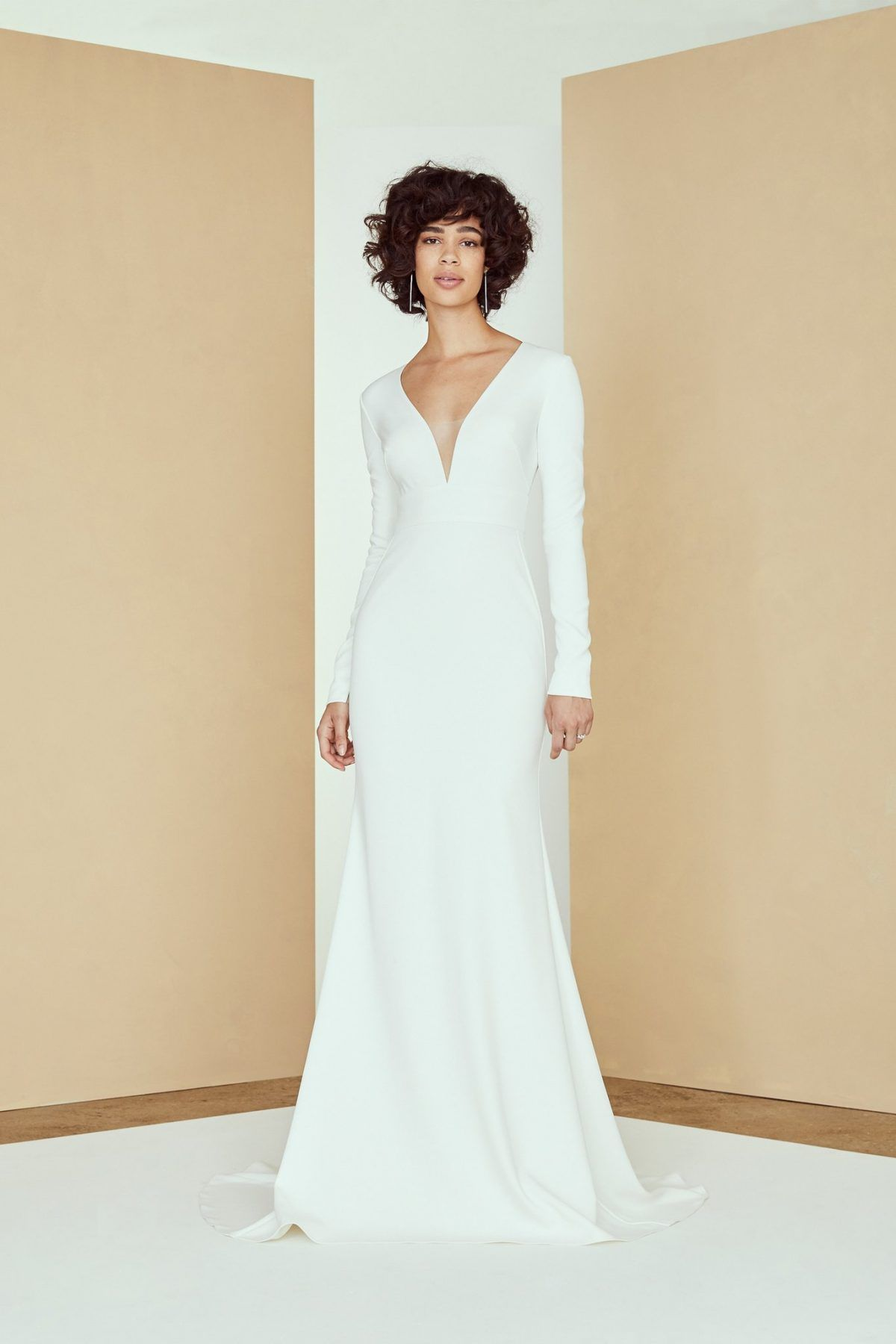 39++ V neck wedding dress with bell sleeves info