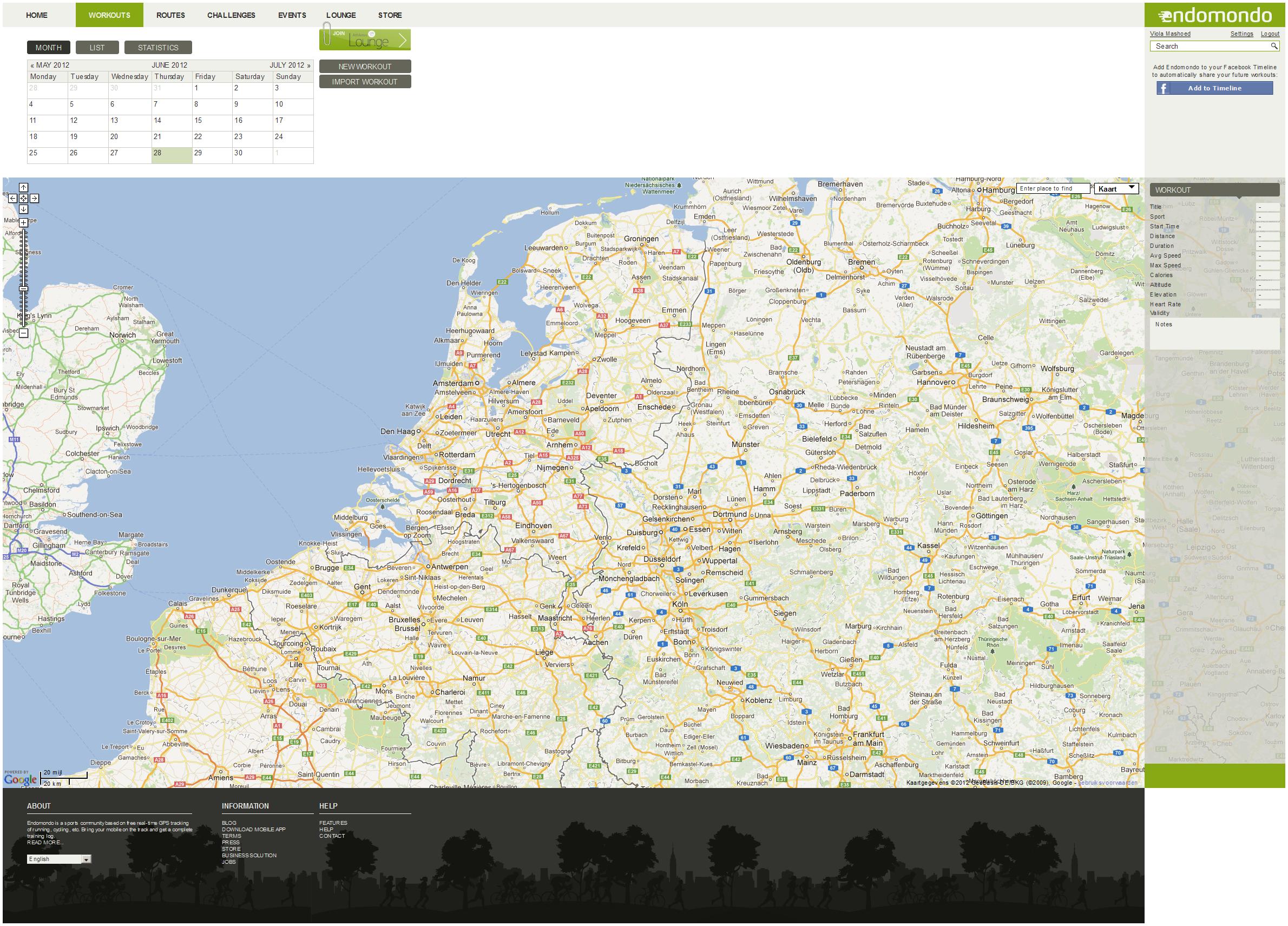 Calendar + Map