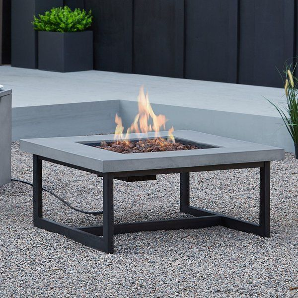Photo of Brenner Concrete Propane/Natural Gas Fire Pit Table