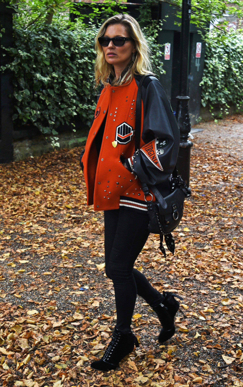 Kate moss goes back to school in coach sport street