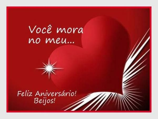 Você Mora No Meu Feliz Aniversário Beijos Felicidades