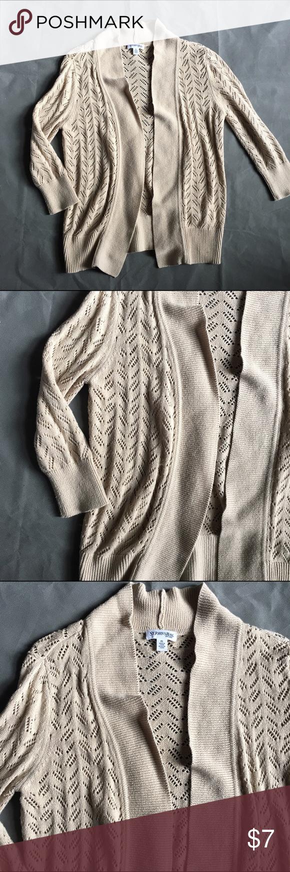 St Johns Bay Petite Large Shrug Sweater Tan | Shrug sweater ...