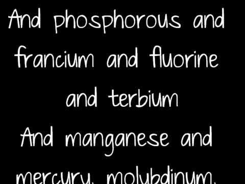 Element song tom lehrer lyrics youtube biology unit 2 element song tom lehrer lyrics youtube urtaz Images