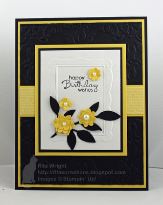 Rita S Creations Stamped Cards Embossed Cards Birthday Cards