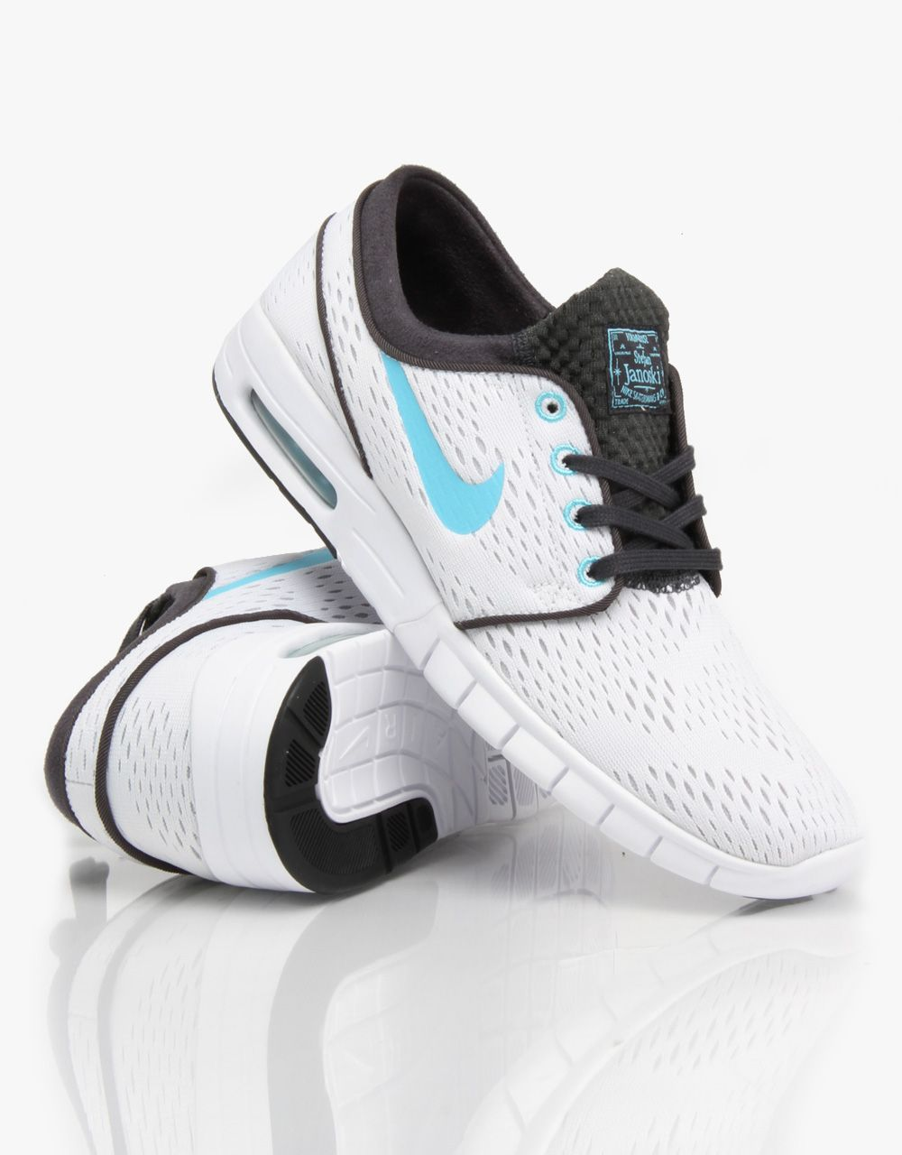 nike sb stefan janoski max shoes white clearwater anthracite black