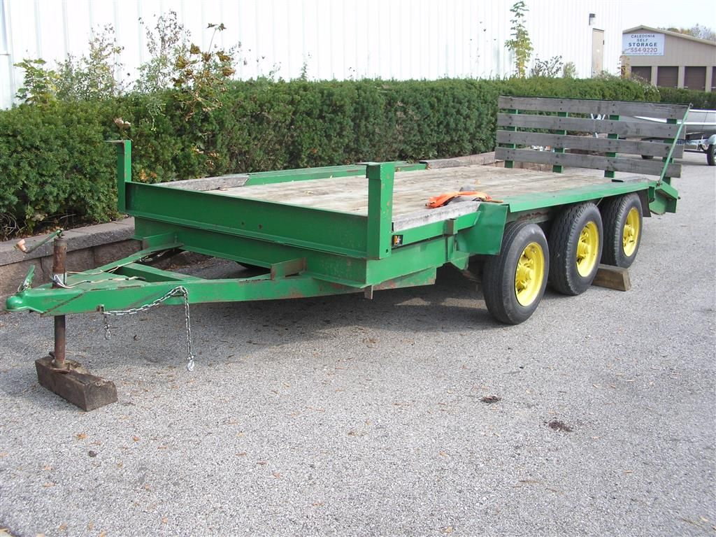 21 Ft Triple Axel Flatbed Trailer Flatbed Trailer Trailer