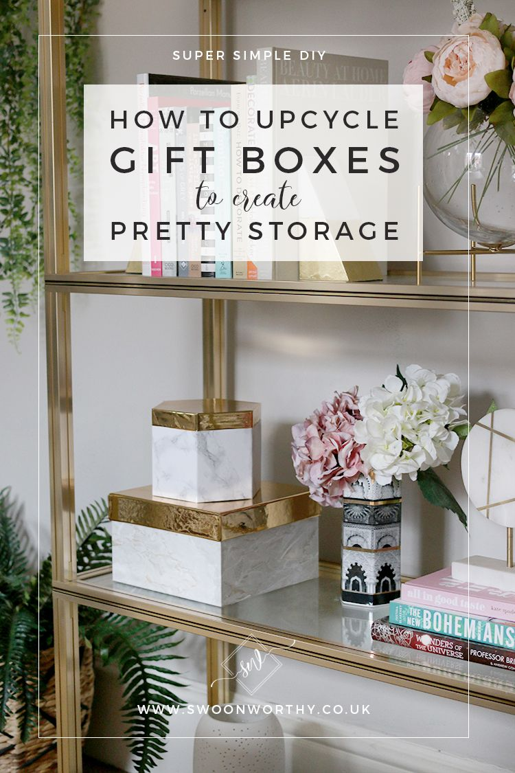 DIY Display Storage Upcycled from Gift Boxes Pretty