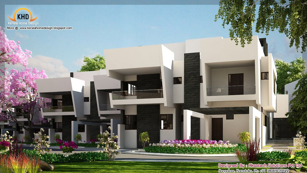 You are viewing modern contemporary home elevations for Modern villa plans and elevations