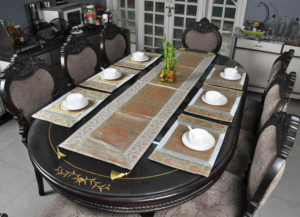 Easter Placemat Designer Table Runner With Mat Grey Dining Room Silk Tablecloth Cover Set Of 7 Pcs Dining Room Colors Table Runners Christmas Placemats