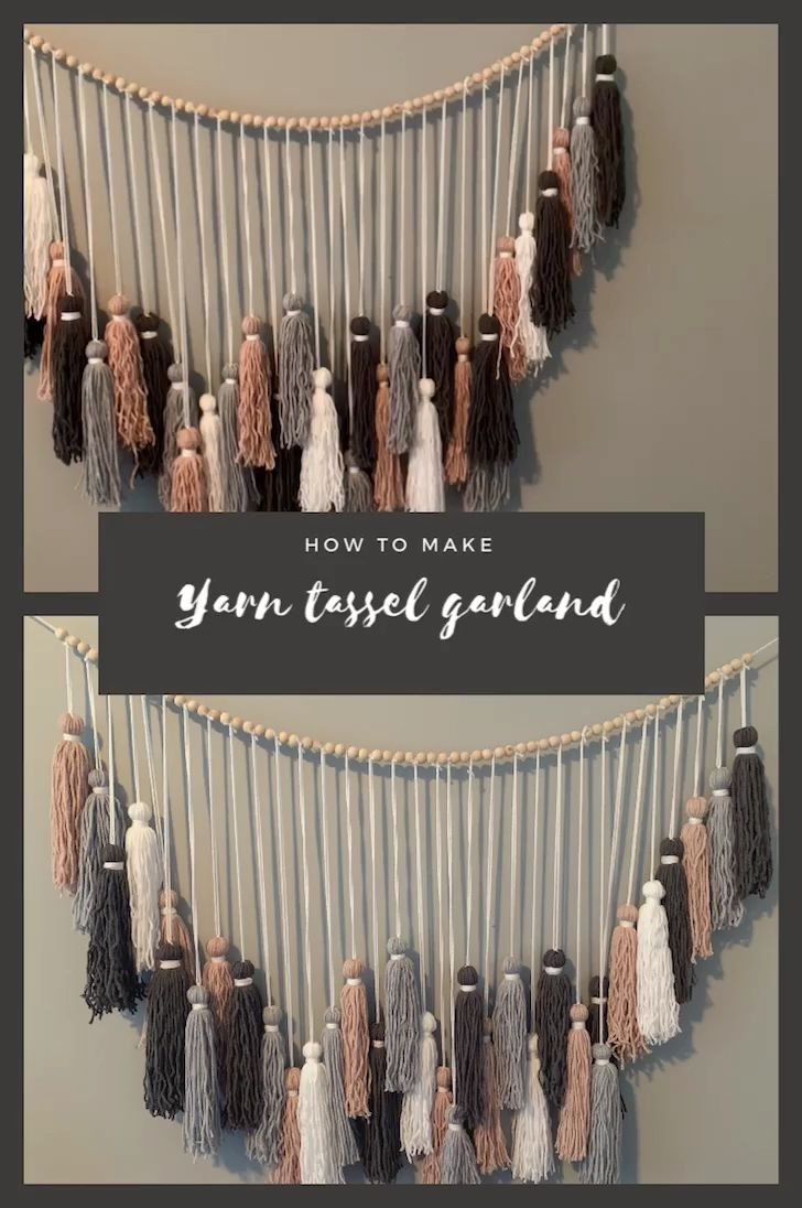 Photo of Boho Yarn Tassel Garland