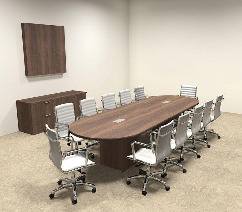 Modern Racetrack Cube Leg 12 Feet Conference Table Of Con Cq9 Table Conference Table Modern Conference Table