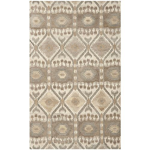 Safavieh Wyndham Collection WYD720A Handmade Natural and Multicolored Wool Area Rug, 5 feet by 8 feet (5' x 8') Safavieh