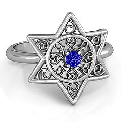 Star of David with Filigree Ring #jewlr