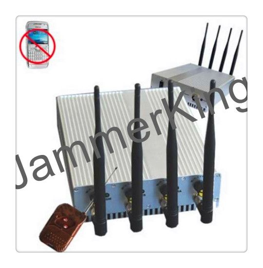 Desktop type Jammer model CPJ4010 with Remote Control designed to block GSM,3G, Wi-Fi/Bluetooth/Wlan and GPSL1 signal within the range of 50 meters. This powerful device provides you industrial strength frequency jamming with 10 Watts of output power, supplied with an AC charger and a DC charger, Widely using in banks, prisons,meeting rooms gas stations, ATM locations, and anywhere else full-time, uninterrupted jamming is needed.