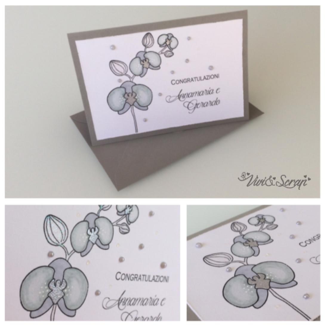 Scrapbooking Orchid Wedding Card Biglietto Per Matrimonio Con Orchidea Viviandscrap Blogspot Ch Fb Viviandscrap Instagram Viviandscrap