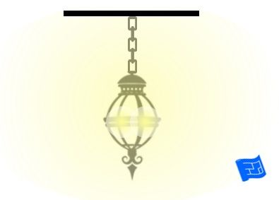 A glass lantern.  Click through to the website for lots of lighting design techniques and ideas.
