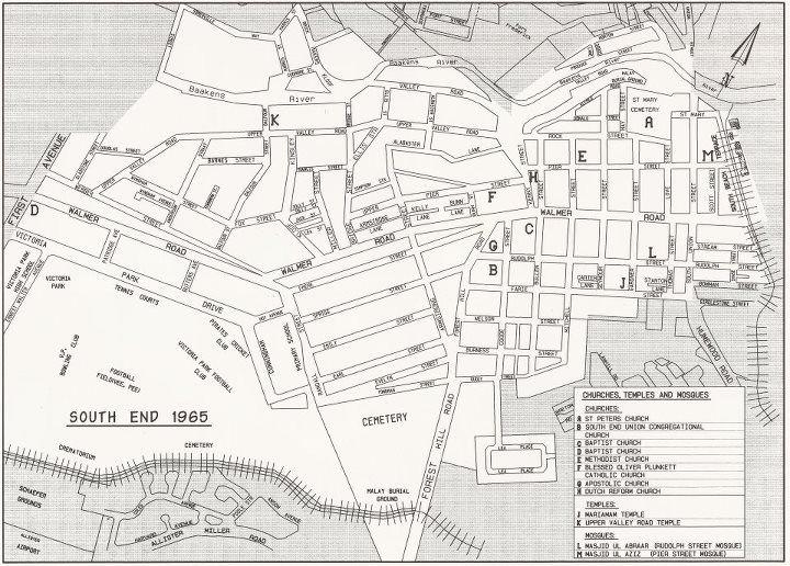 Map of old south end 1965 historical eastern cape pinterest port elizabeth south africa - Port elizabeth south africa map ...