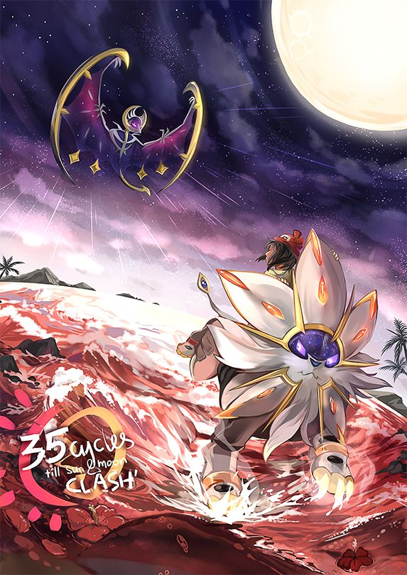 Tags Anime Chong Sasha Khai Pokemon Solgaleo Female Protagonist Pokemon Sun Moon Lunala Moon Symbol Pokemon Pokemon Mewtwo Pokemon Solgaleo