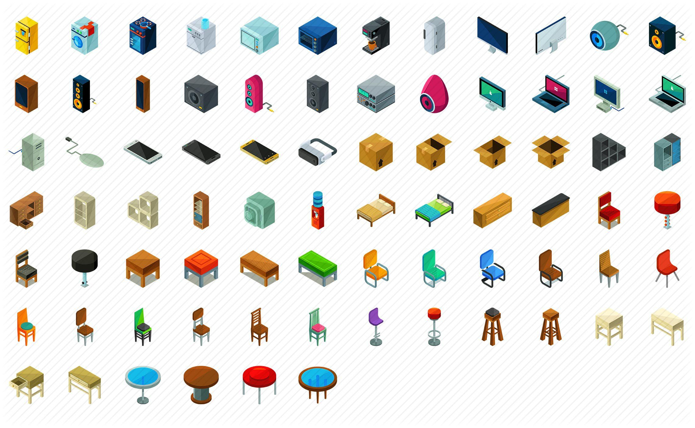 Sofa Set Vector Png 1 000 Vector Isometric Icons Pack Isometric Icons Drawing