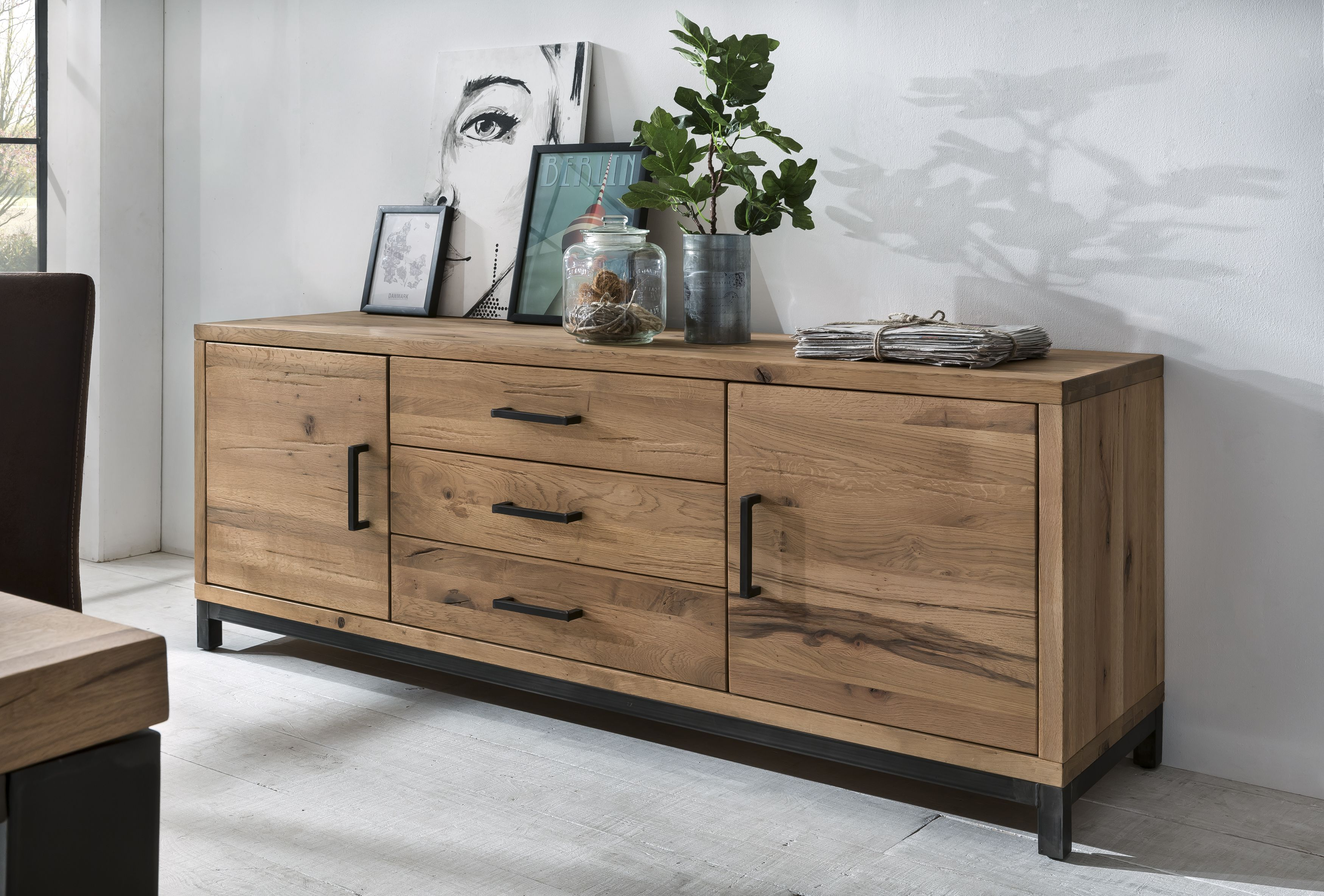 Sideboard bestano  cm eiche massivholz küche