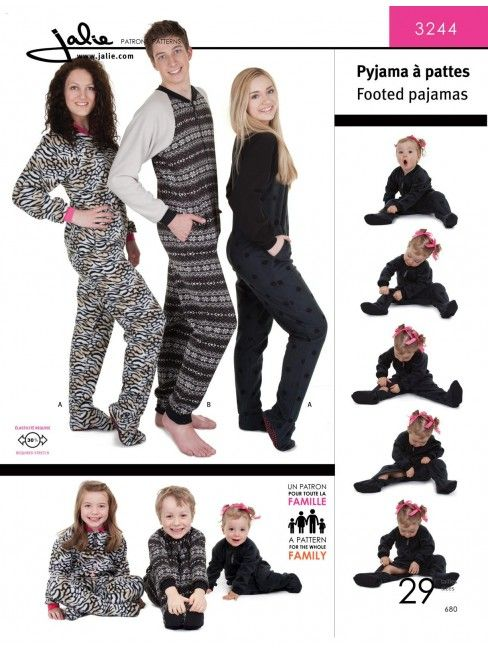 Footed pajamas for Men, Women and Children | • sewing for boys ...