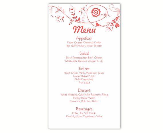 Free Printable Menu Templates And More Wedding Menu Printable