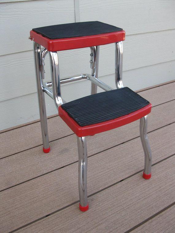 Vintage Red Metal Step Stool Childu0027s Stool Step by oakiesclaptrap & Vintage Red Metal Step Stool Childu0027s Stool Step by oakiesclaptrap ... islam-shia.org