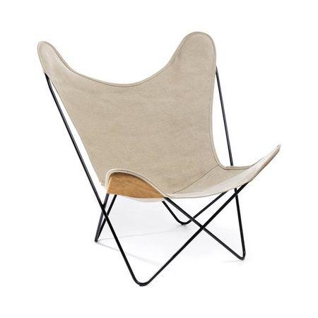 Hardoy Butterfly Chair Linen Leinen Schmetterling Stuhl Beton Badezimmer