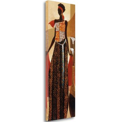 Tangletown Fine Art 'Malaika' by Keith Mallett Graphic Art on Wrapped Canvas