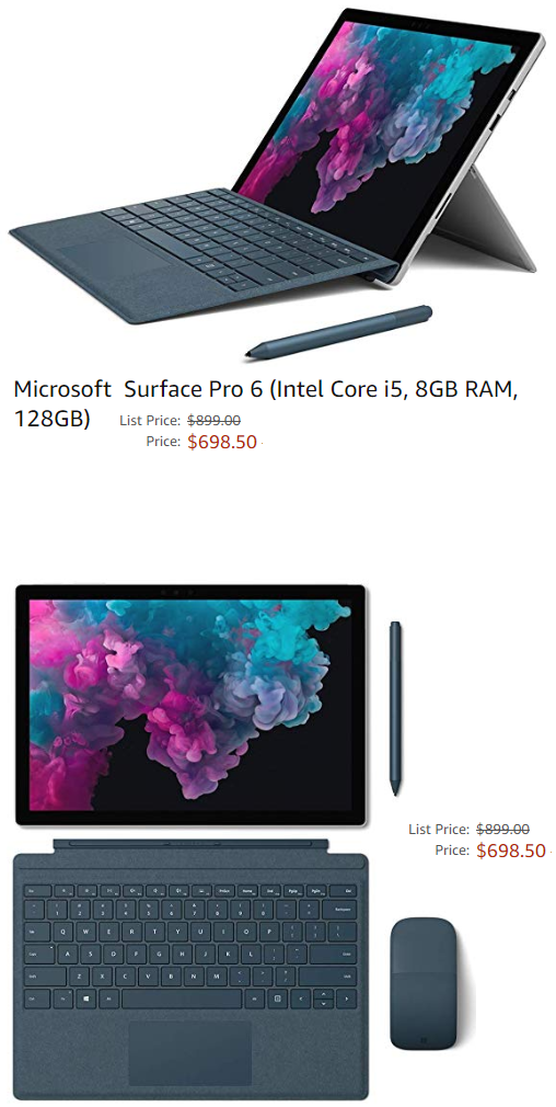 Microsoft Surface Pro 6 Intel Core I5 8gb Ram 128gb In 2020 Microsoft Surface Pro Intel Core Intel