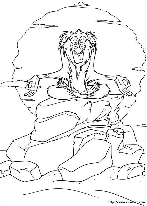 Coloriage Roi Lion Coloriage Personnages Disney Pinterest Lions